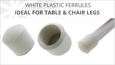 WHITE RUBBER CHAIR LEG FERRULES
